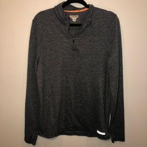 Omni Wool Gray Quarter Sleeve Athletic Sweater